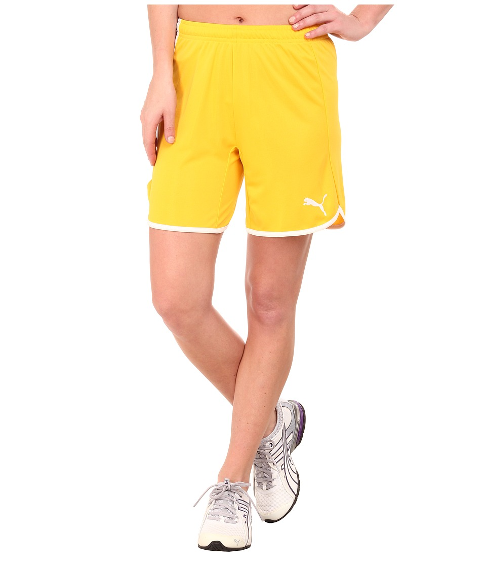 PUMA - Pulse Shorts (Team Yellow/White) Women's Shorts