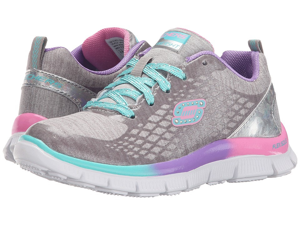 SKECHERS KIDS - Skech Appeal - Surprise and Shine 81862L (Little Kid/Big Kid) (Silver/Multi) Girl's Shoes