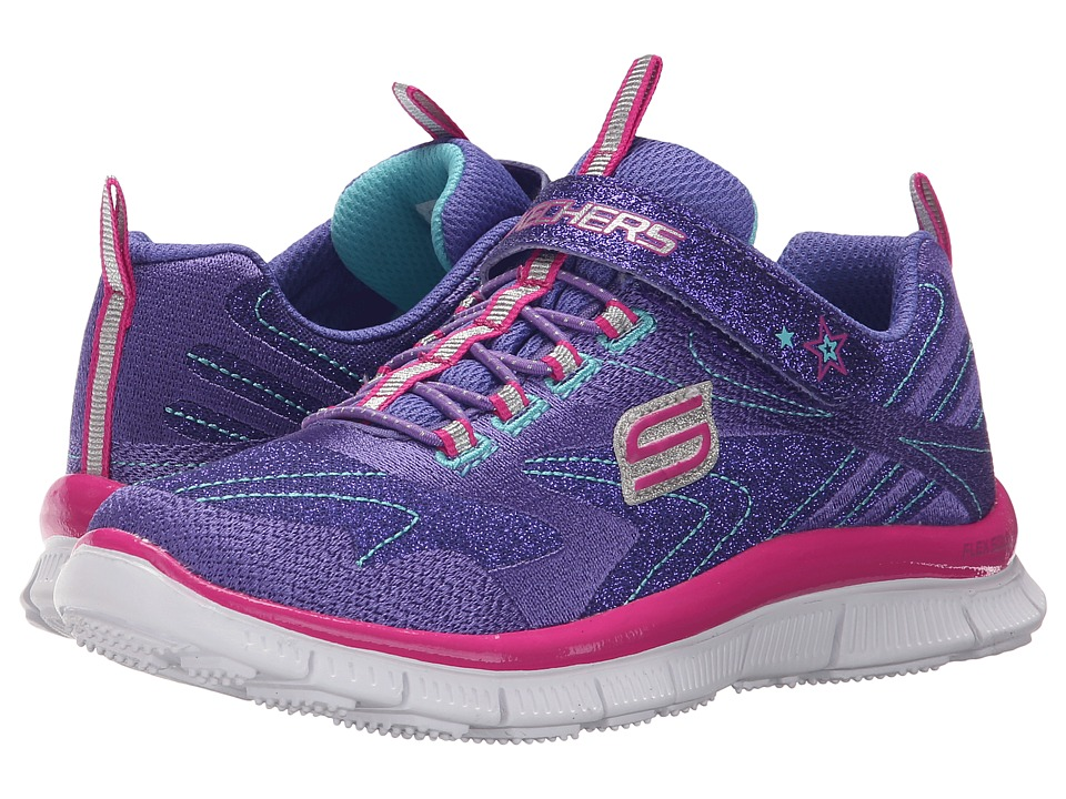 SKECHERS KIDS - Skech Appeal 81857L (Little Kid/Big Kid) (Purple/Neon Pink) Girl's Shoes