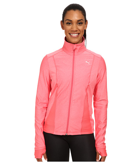 PUMA - Gym All Eyes On Me Jacket (Calypso Coral Heather) Women's Long Sleeve Pullover