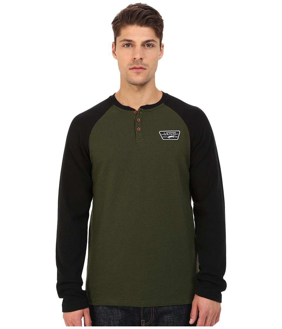 Vans - Giltner Knits (Surplus Green/Black) Men's T Shirt