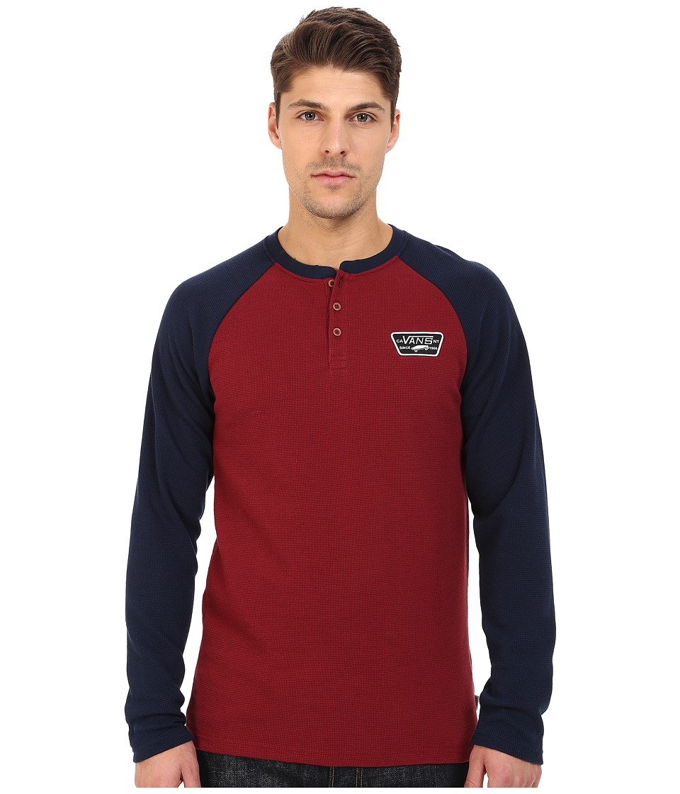 Vans - Giltner Knits (Bordeaux/Black Iris) Men's T Shirt