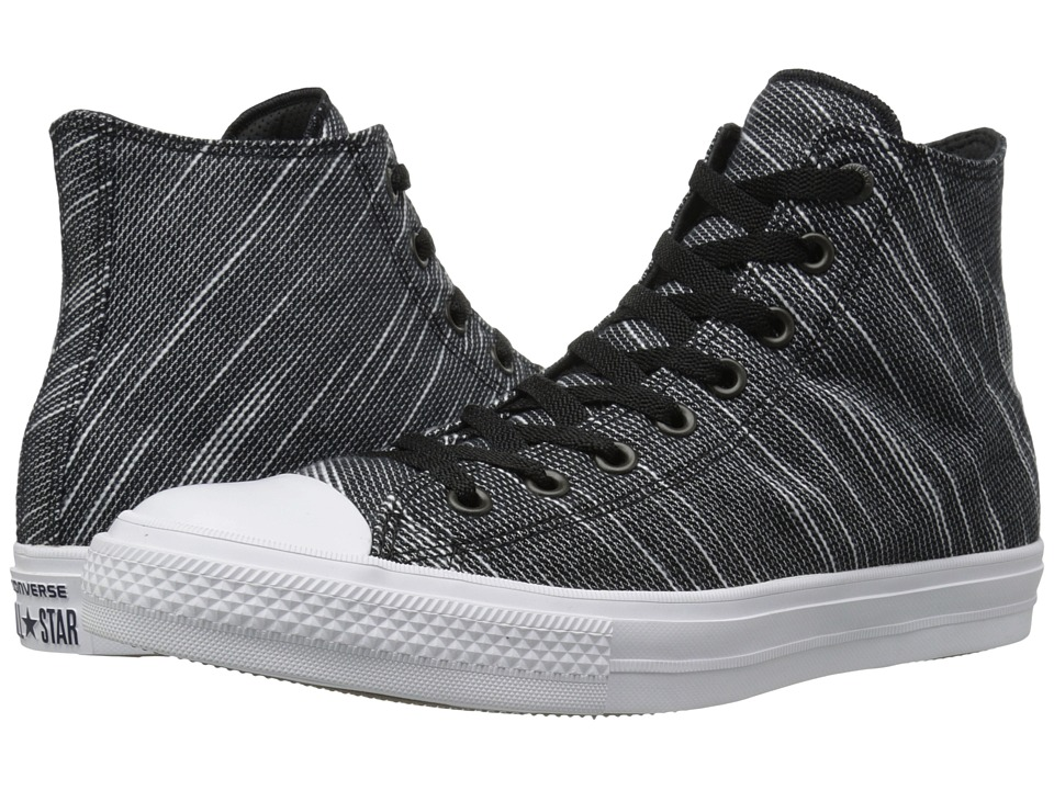 Converse Chuck Taylor All Star II Knit Hi (Black/White/Navy Textile) Athletic Shoes