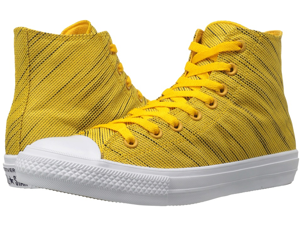 Converse Chuck Taylor All Star II Knit Hi (Yellow/Black/White Textile) Athletic Shoes