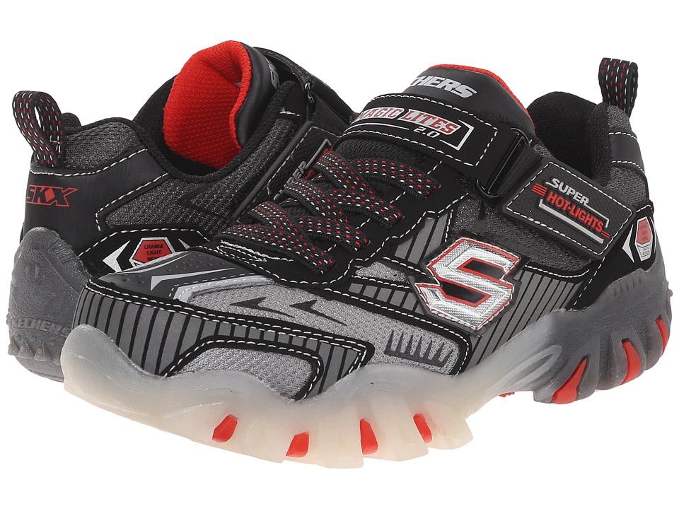SKECHERS KIDS - Street Lightz 90481L Lights (Little Kid) (Black/Red) Boys Shoes