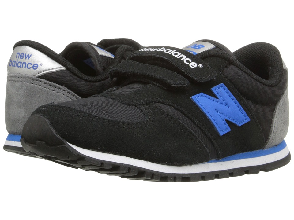 New Balance Kids Classics 420 (Infant/Toddler) (Grey/Navy) Boys Shoes