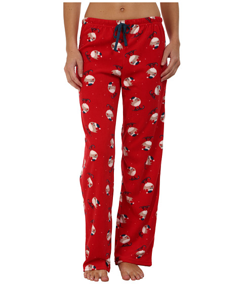 Jockey - Microfleece Pants (Skiing Birds) Women's Pajama