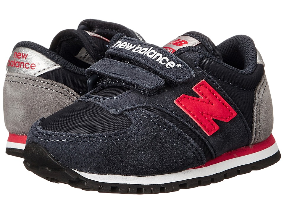 New Balance Kids - Classics 420 (Infant/Toddler) (Navy/Red 1) Boys Shoes