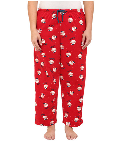 Jockey - Plus Size Microfleece Pants (Skiing Birds) Women