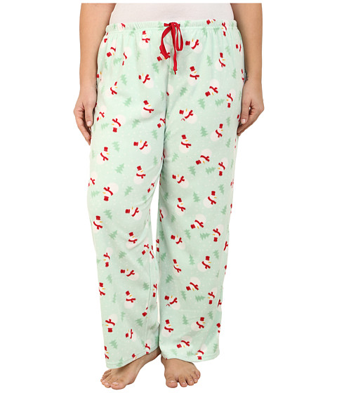 Jockey - Plus Size Microfleece Pants (Snowmen) Women's Pajama
