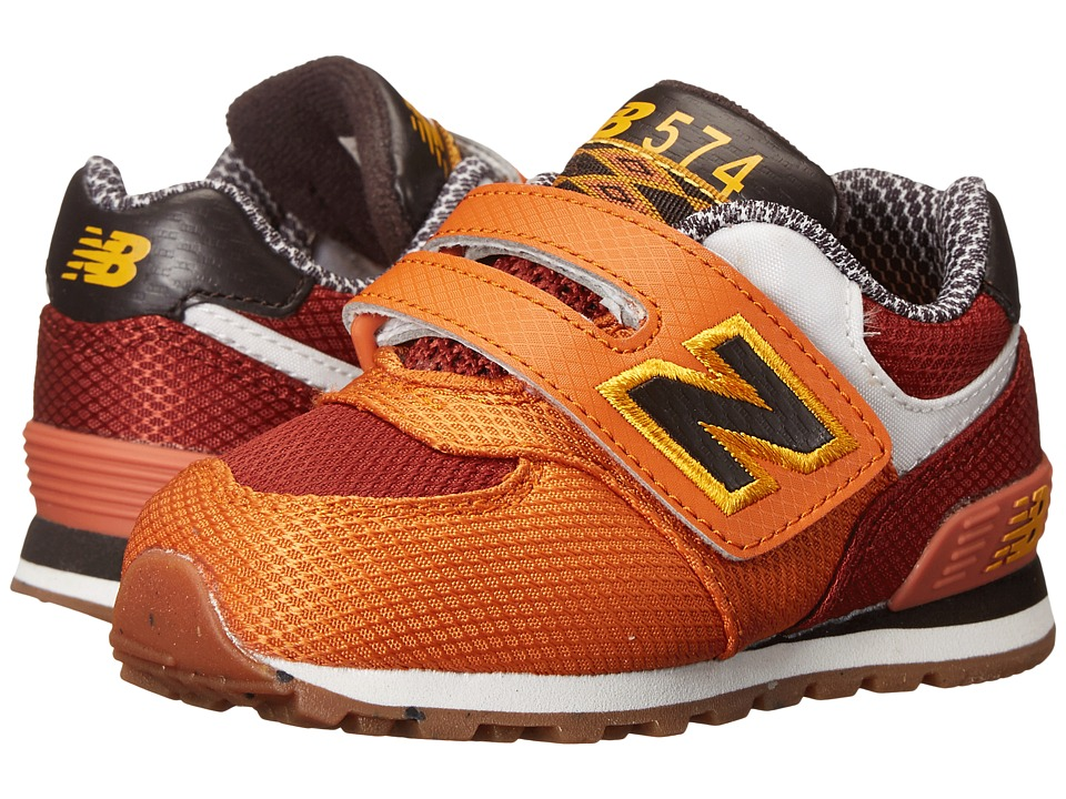 New Balance Kids - KG574 (Infant/Toddler) (Orange) Boys Shoes