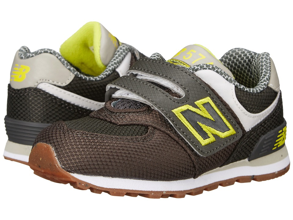 New Balance Kids KG574 (Infant/Toddler) (Green/Yellow) Boys Shoes