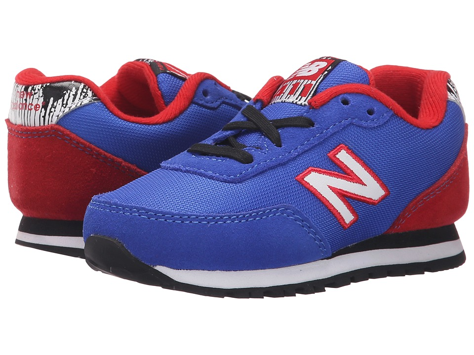 New Balance Kids - 411v1 (Infant/Toddler) (Blue/Red) Boys Shoes
