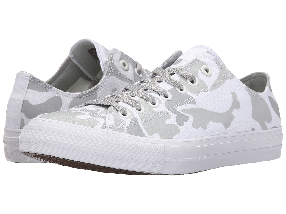 Converse Chuck Taylor All Star II Reflective Camo Americana Ox (White/Mouse/White Textile) Athletic Shoes