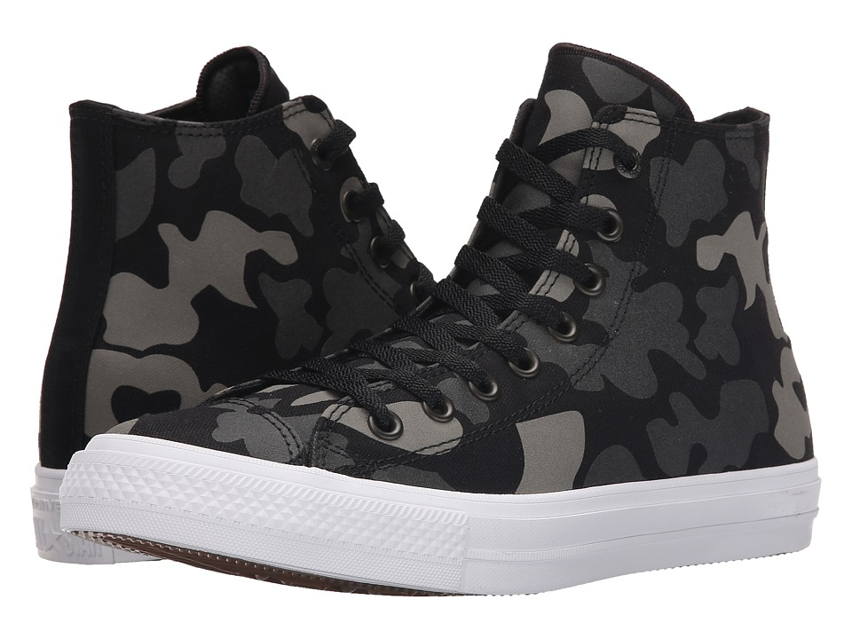 Converse Chuck Taylor All Star II Reflective Camo Americana Hi (Charcoal/Black/White Textile) Athletic Shoes