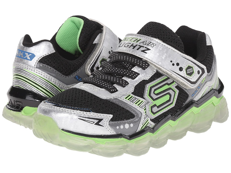 SKECHERS KIDS - Skech Air Lightz - Toxic 90521L (Little Kid) (Silver/Black/Blue) Boys Shoes