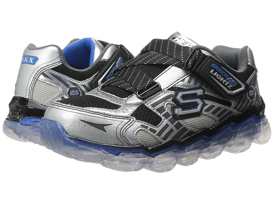 SKECHERS KIDS - Skech Air Lightz 90520L (Little Kid) (Silver/Black/Blue) Boys Shoes