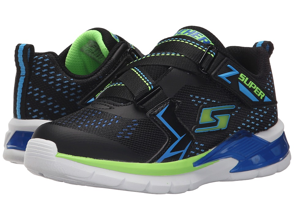SKECHERS KIDS - Erupters II 90550L Lights (Little Kid) (Black/Blue/Lime) Boys Shoes