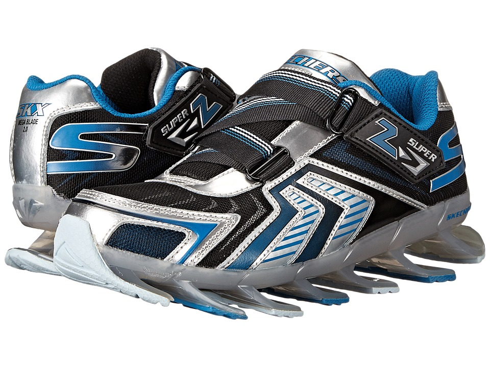SKECHERS KIDS - Mega Lightz 90530L (Little Kid) (Silver/Blue) Boys Shoes