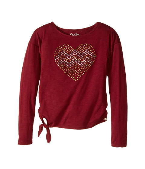 Lucky Brand Kids - Stud My Heart Tee (Big Kids) (Cranberry Crush) Girl