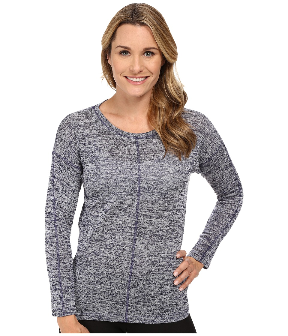 Jockey - Sweater Knit Long Sleeve Top (Heather Navy) Women's Pajama