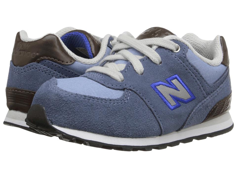 New Balance Kids - KL574 (Infant/Toddler) (Blue Bell/ Blue Fin) Boys Shoes