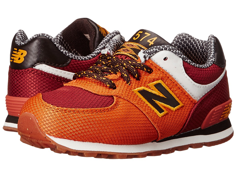 New Balance Kids KL574 (Infant/Toddler) (Orange) Boys Shoes