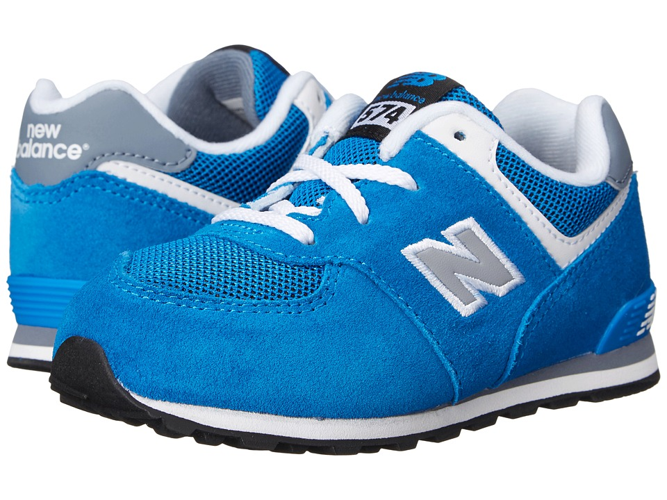 New Balance Kids - KL574 (Infant/Toddler) (Blue/Grey) Boys Shoes