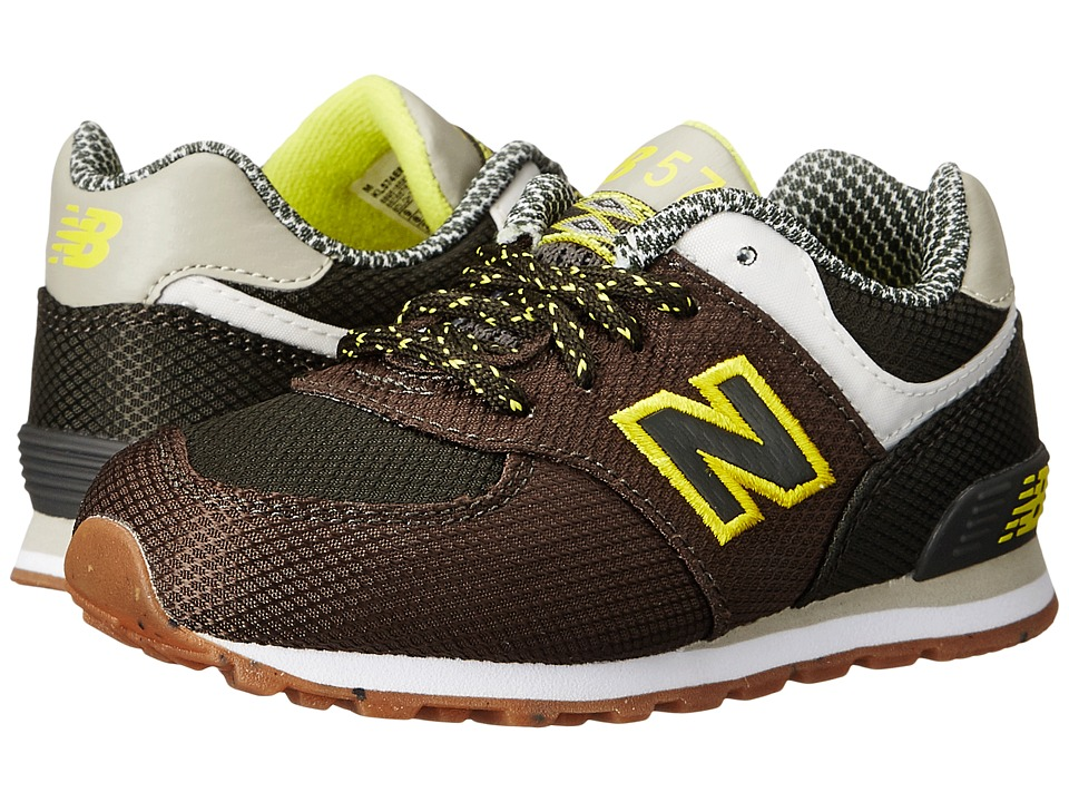 New Balance Kids KL574 (Infant/Toddler) (Green/Yellow) Boys Shoes