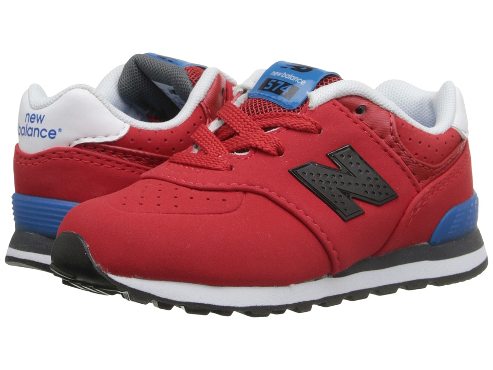 New Balance Kids - KL574 (Infant/Toddler) (Red/Blue) Boys Shoes