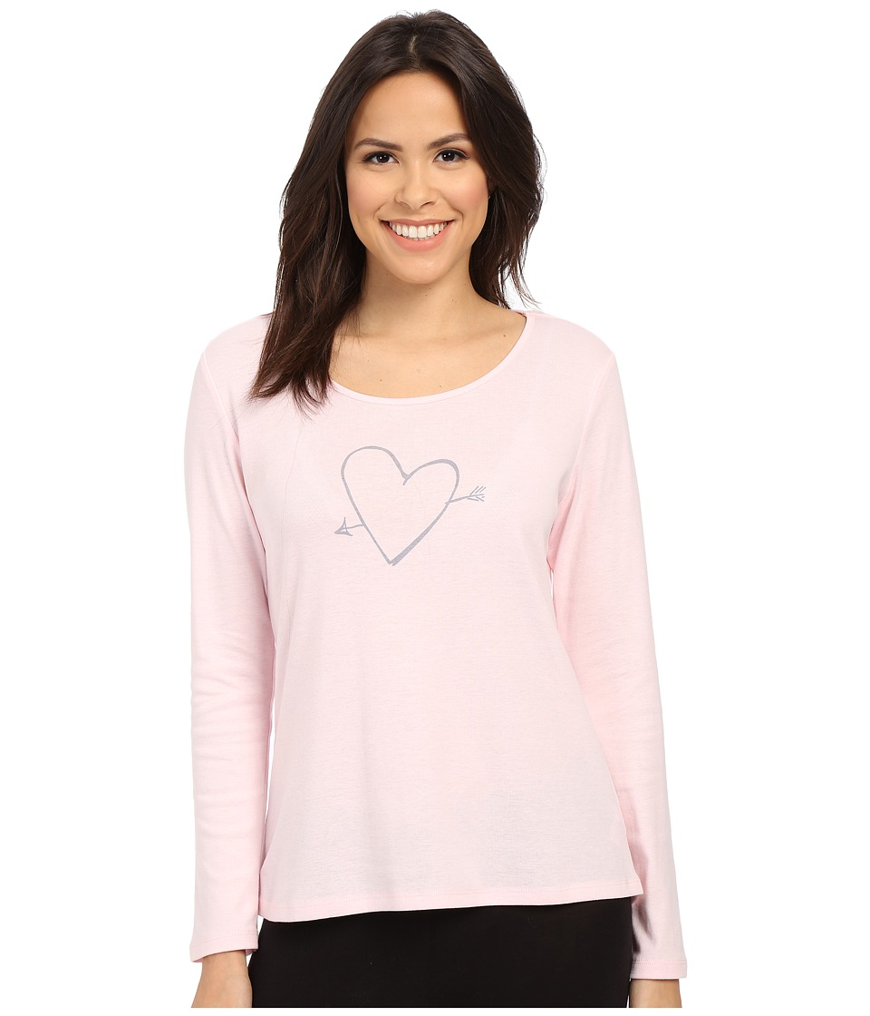 Jockey - Long Sleeve Top with Screenprint (Frosty Pink) Women's Pajama