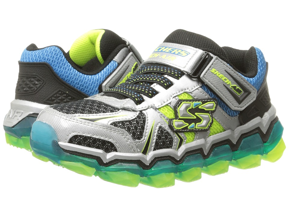 SKECHERS KIDS - Skech Air 2.0 95140L (Little Kid/Big Kid) (Silver/Blue/Lime) Boy's Shoes