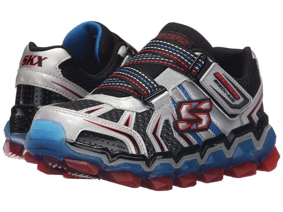 SKECHERS KIDS - Skech Air 2.0 95141L (Little Kid/Big Kid) (Silver/Red/Blue) Boy's Shoes