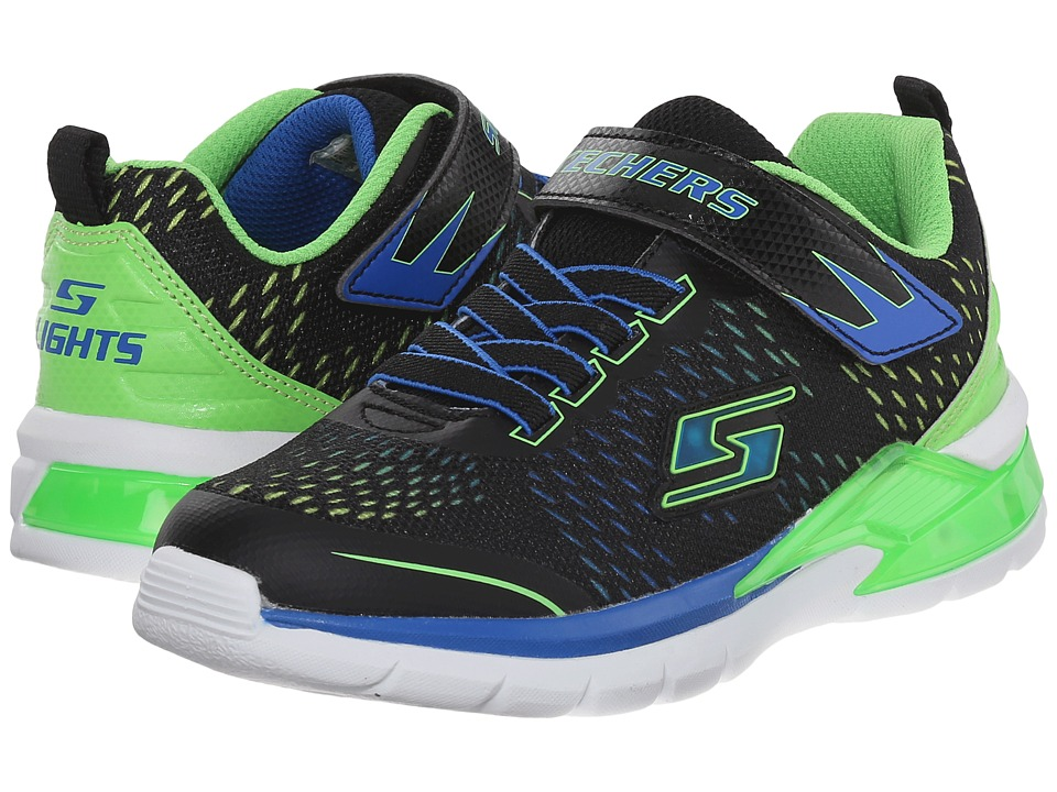 SKECHERS KIDS - Erupters II - Lava Arc 90551L Lights (Little Kid) (Black/Blue/Lime) Boys Shoes
