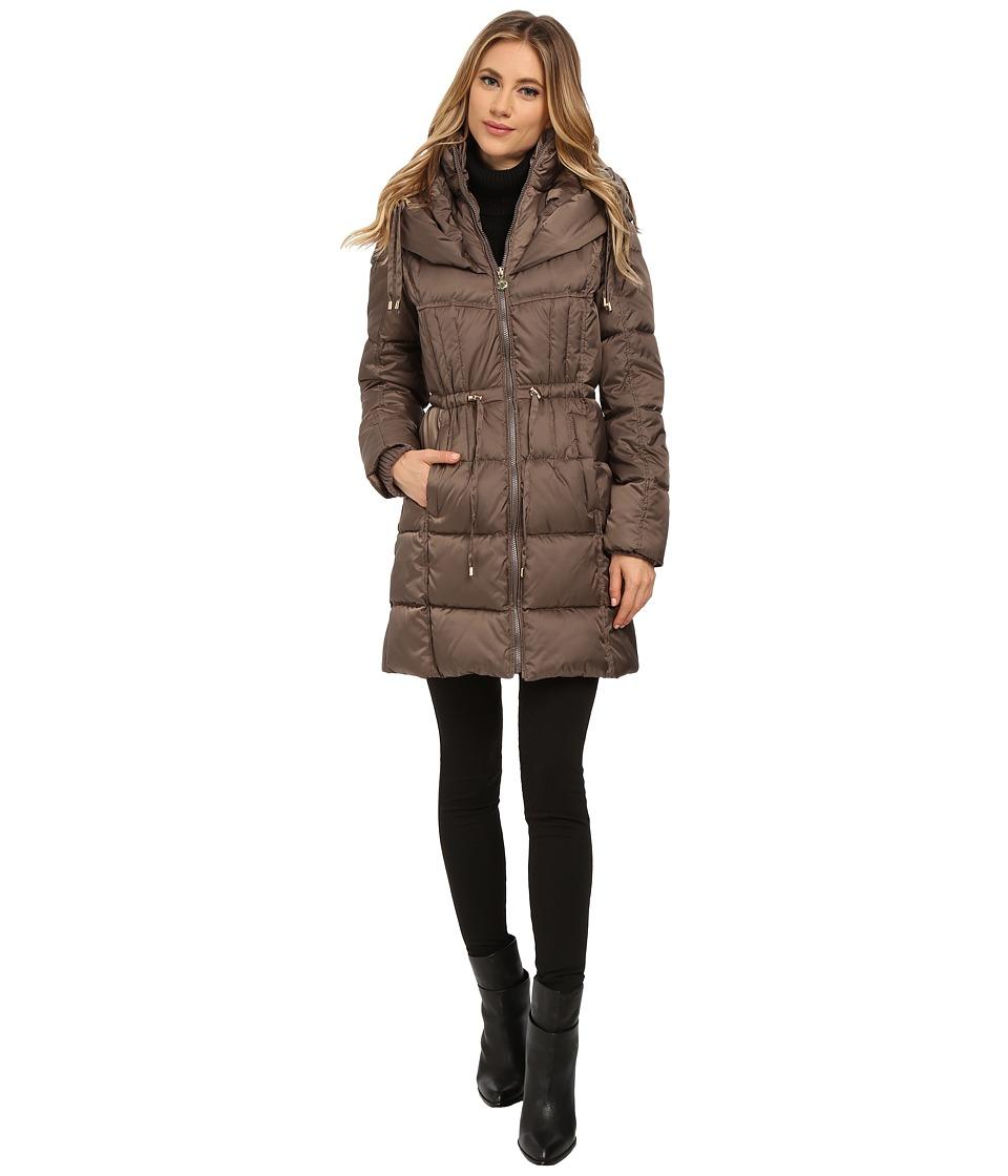 Betsey Johnson - Puffer Anorak (Taupe) Women's Coat