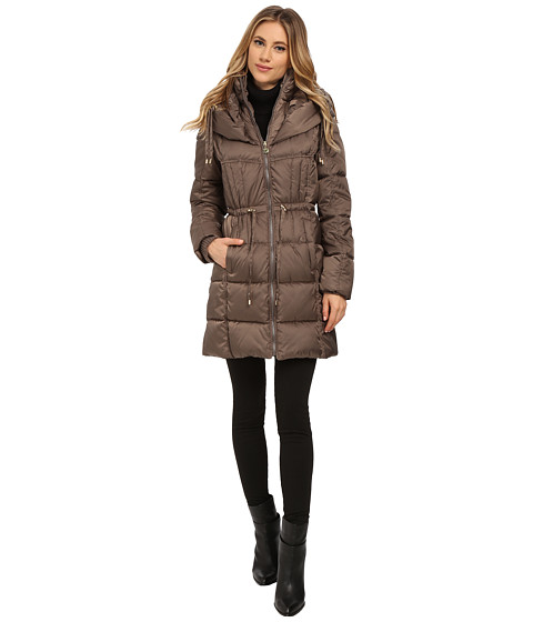 Betsey Johnson - Puffer Anorak (Taupe) Women