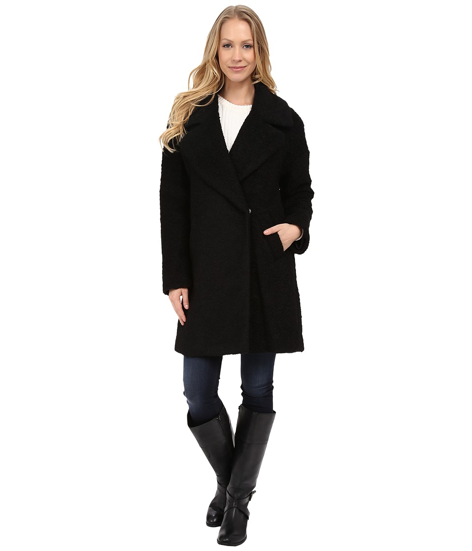 Betsey Johnson - Teddy Wool (Black) Women's Coat