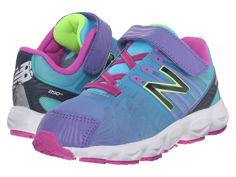 New Balance Kids - KV890 (Infant/Toddler) (Blue) Girls Shoes
