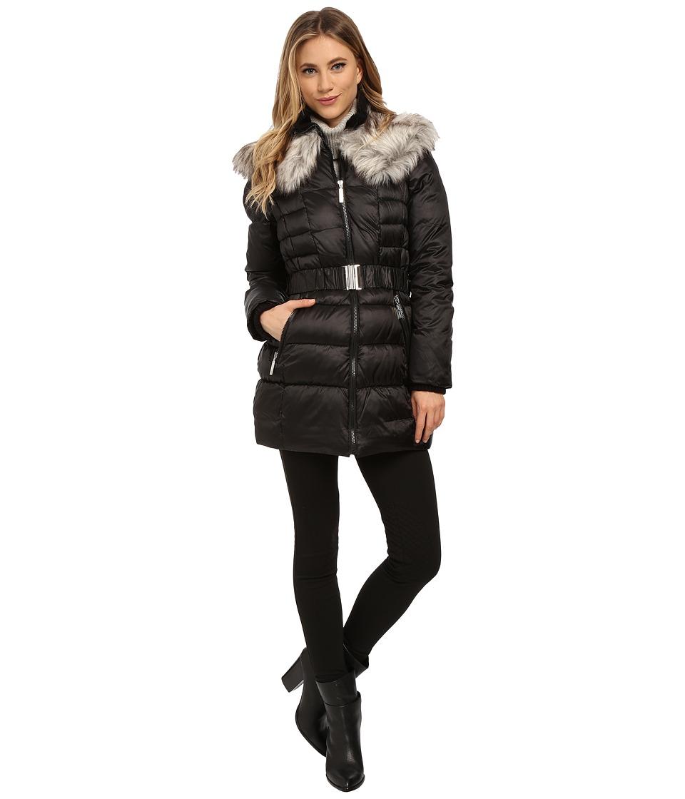 Betsey Johnson - Belted Puffer (Black) Women's Coat