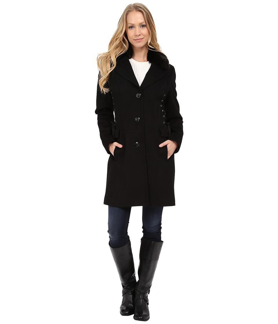 Betsey Johnson - Corset Side Wool (Black) Women's Clothing