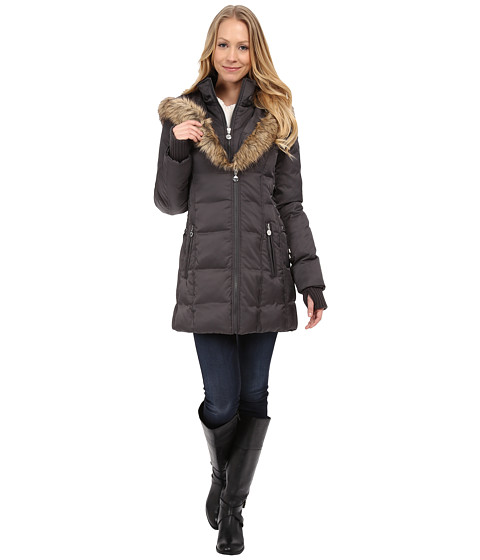 Betsey Johnson - Corset Side Puffer (Steel) Women