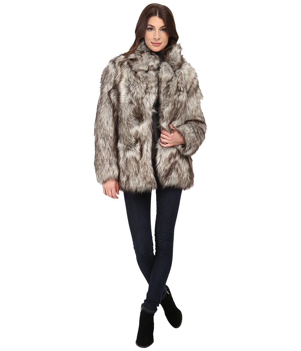 Betsey Johnson - Chubby Faux Fur (Silver) Women's Clothing