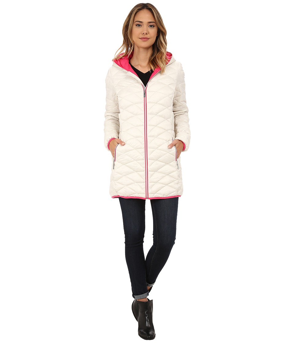 Betsey Johnson - 3/4 Lightweight Puffer (Sugar) Women's Clothing