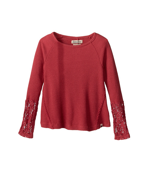 Lucky Brand Kids - Tate Long Sleeve Thermal (Little Kids) (Slate Rose) Girl's Clothing
