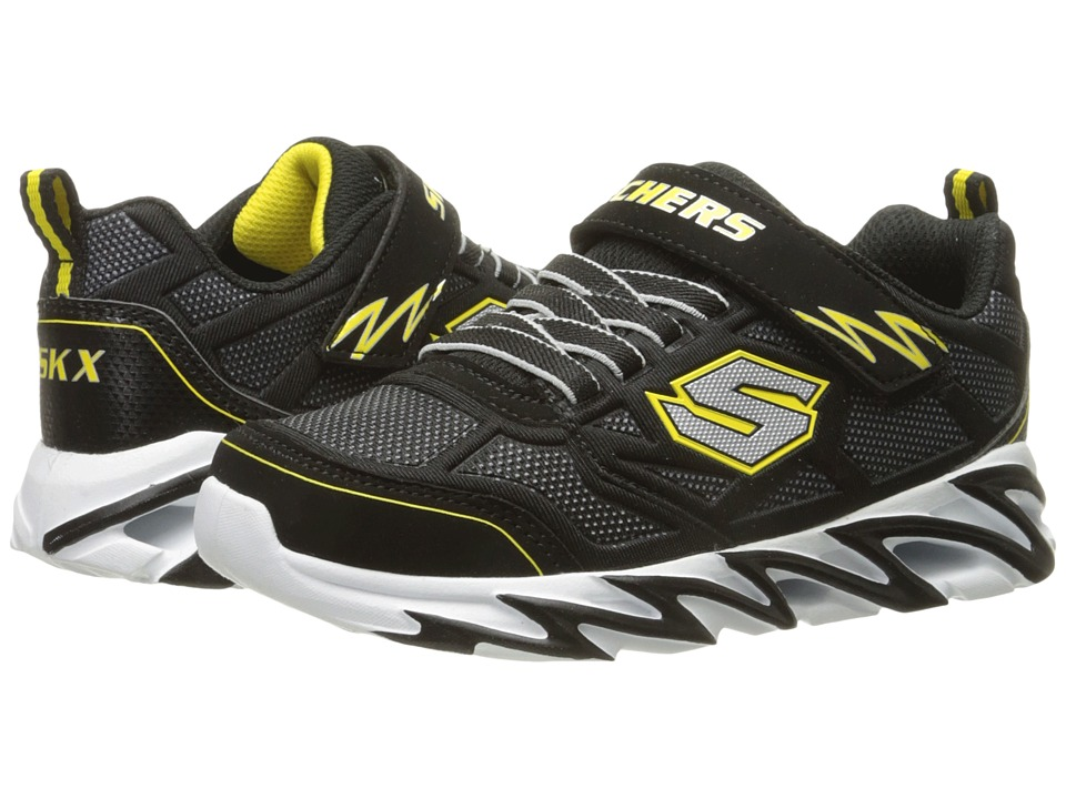 SKECHERS KIDS - Fast Volt 95956L (Little Kid) (Black/Yellow) Boy's Shoes