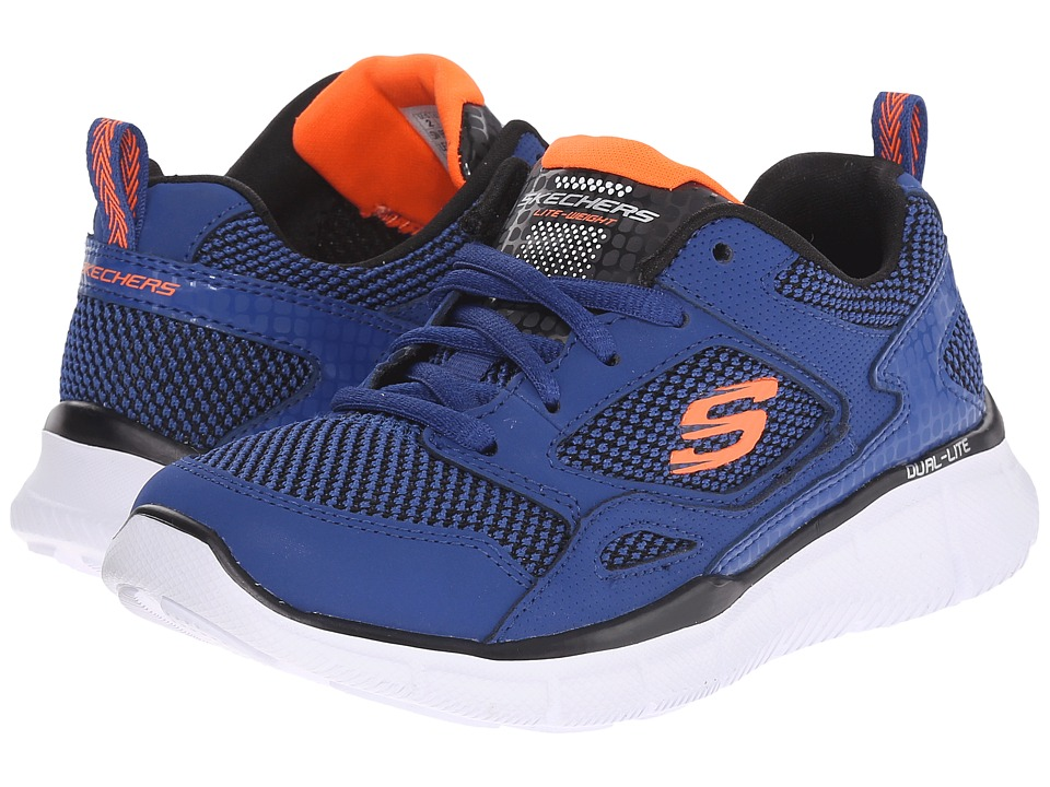 SKECHERS KIDS - Equalizer - Game Point 95532L (Little Kid/Big Kid) (Royal/Orange) Boy's Shoes