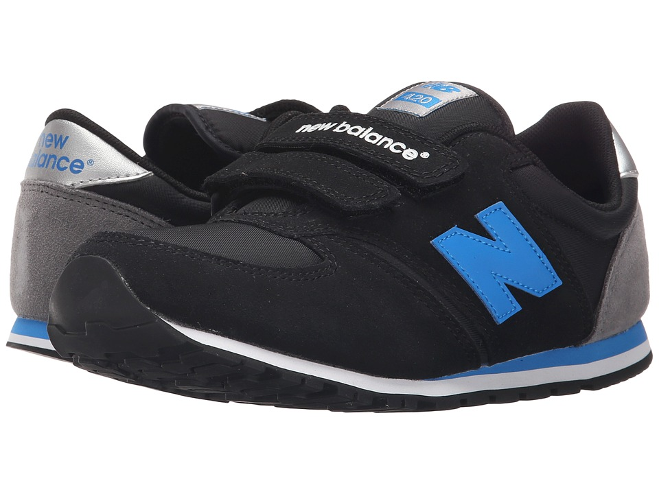 New Balance Kids - Classics 420 (Little Kid/Big Kid) (Black/Blue/Grey) Boys Shoes