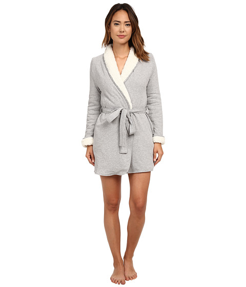 Splendid - Sherpa Robe (Light Gray Heather) Women