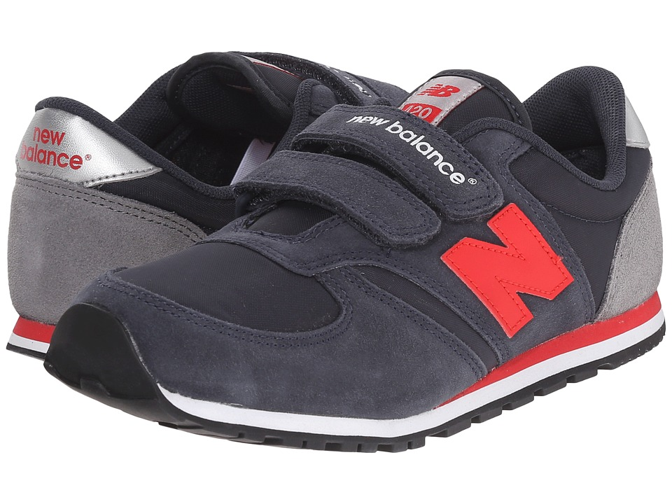 New Balance Kids - Classics 420 (Little Kid/Big Kid) (Navy/Red 1) Boys Shoes