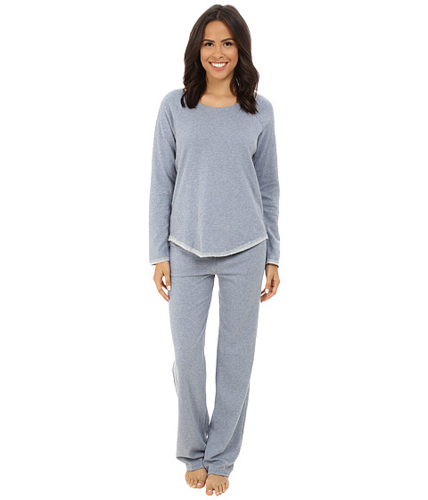 Splendid - Cozy Lounge Set (Blue Chambray) Women's Pajama Sets